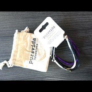 A set of 3 stitched bracelets/anklets